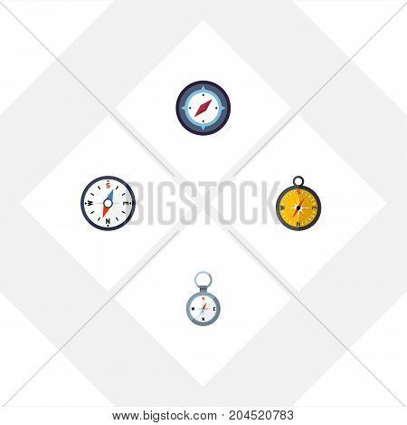 Flat Icon Compass Set Of Direction, Compass, Navigation And Other Vector Objects