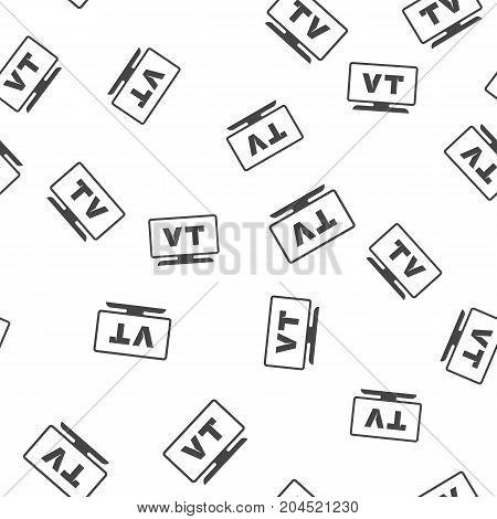 TV seamless pattern. Vector illustration for backgrounds