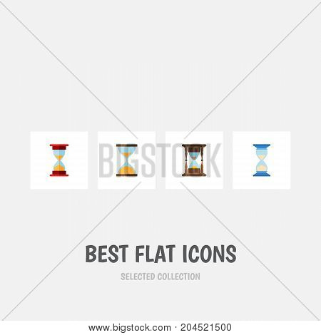 Flat Icon Timer Set Of Clock, Loading, Minute Measuring And Other Vector Objects
