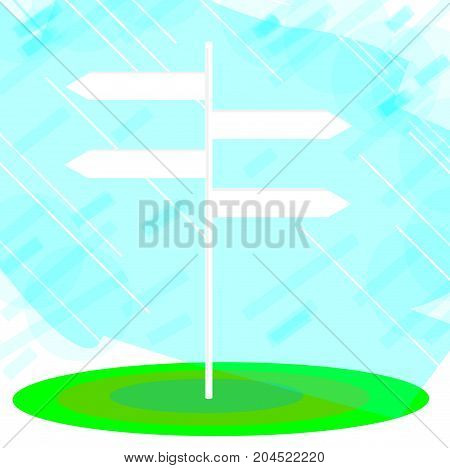 four arrow signpost for your message illustration
