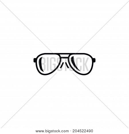 Eye-Wear Vector Element Can Be Used For Sunglasses, Eyeglasses, Nerd Design Concept.  Isolated Eye Accessory Icon.