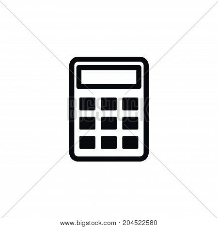 Calculate Vector Element Can Be Used For Accounting, Calculator, Calculate Design Concept.  Isolated Accounting Icon.