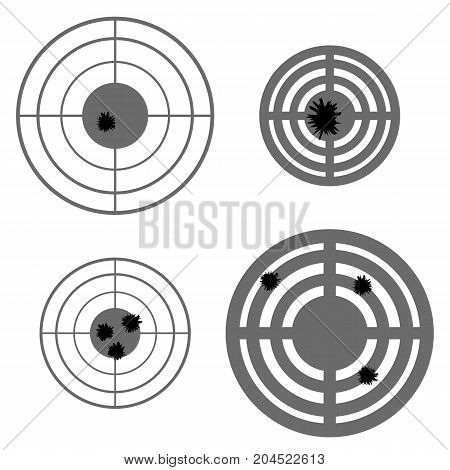 Set of Different Using Targets Isolated on White Background