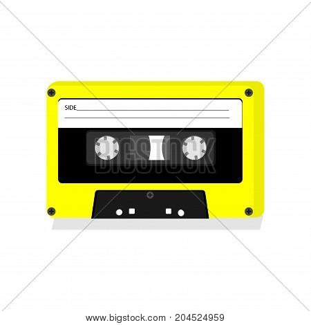 Cassette tape icon on a white background