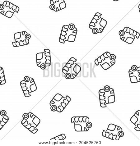 Bus seamless pattern. Vector illustration for backgrounds