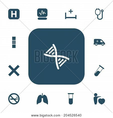 Set Of 13 Editable Hospital Icons. Includes Symbols Such As Stop Smoke, Human Love, Clinic And More