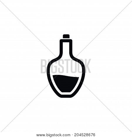 Cognac Vector Element Can Be Used For Cognac, Rum, Bottle Design Concept.  Isolated Rum Icon.