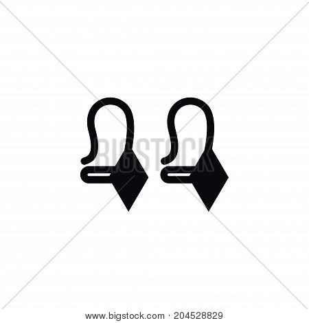 Decoration Vector Element Can Be Used For Shackle, Earring, Eardrop Design Concept.  Isolated Beautify Icon.