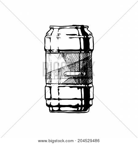 Vector Illustration Of Beverage Can