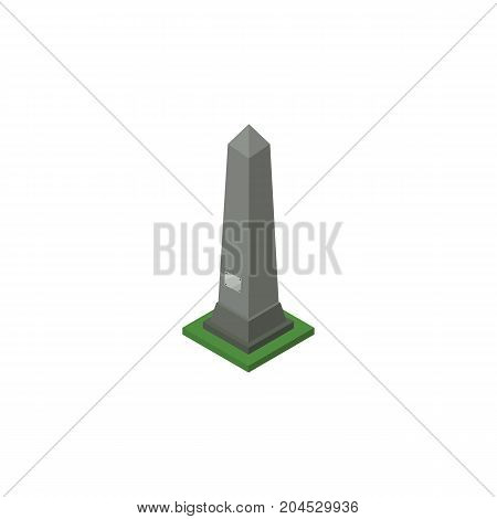 Dc Memorial Vector Element Can Be Used For Monument, Washington, Dc Design Concept.  Isolated Washington Monument Isometric.