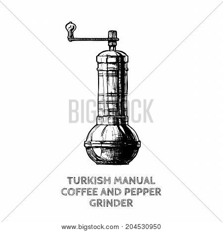 Turkish Coffee And Pepper Grinder