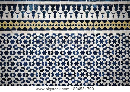 Highly detailed image of moroccan vintage tiles