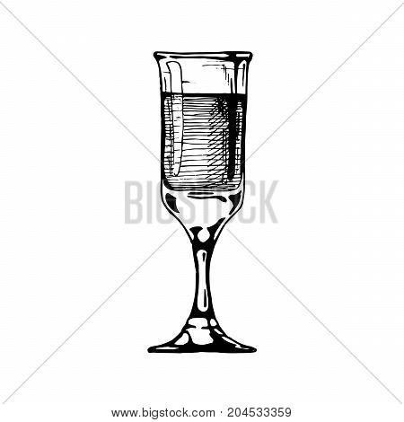 Illustration Of Sherry Glass