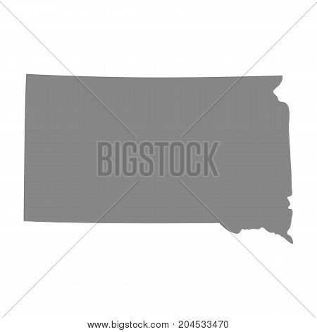 map of the U.S. state of South Dakota