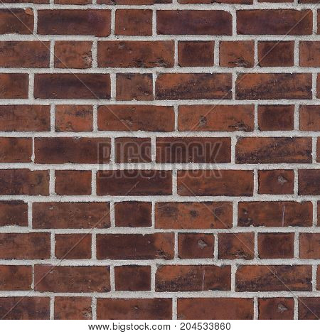 Seamless Red Brick Texture Background