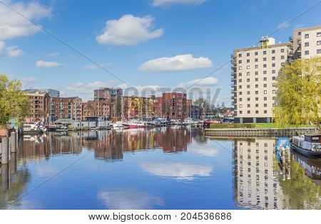 Apartment Buildings At The East Harbor Of Groningen