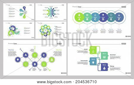 Infographic design set can be used for workflow layout, diagram, annual report, web design. Business and marketing concept with scatter organizational charts and presentation elements