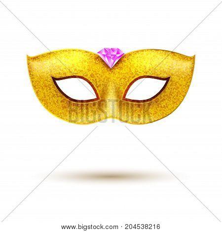 Masquerade Carnival Mask decoration. Costume design for festival. Carnival party.