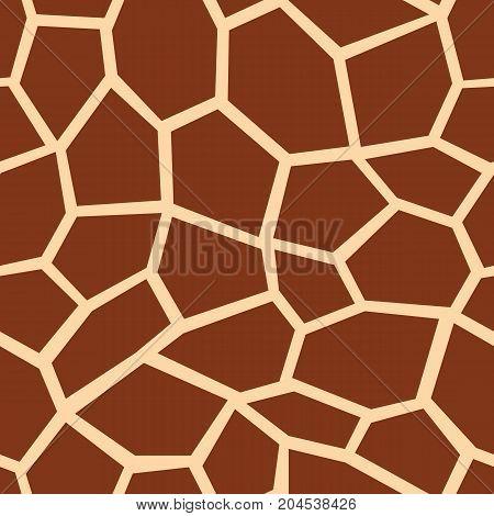 Giraffe seamless pattern. Brown giraffe spots. Popular texture. Vector illustration