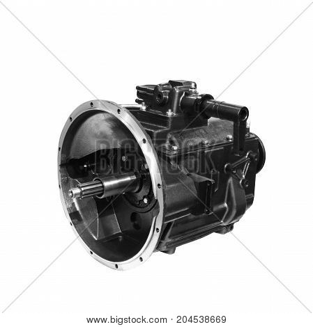Car mechanic transmission car mechanic gearshift isolated on white