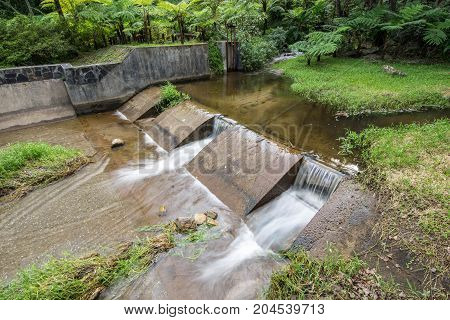 weir on inthanon national Park landscape thailand