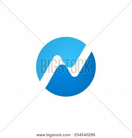 Simple abstract n letter logo design template vector illustration