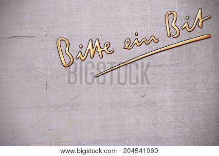 MAINZ, GERMANY - AUGUST 20: The advertising slogan of the beer brand Bitburger in german letters
