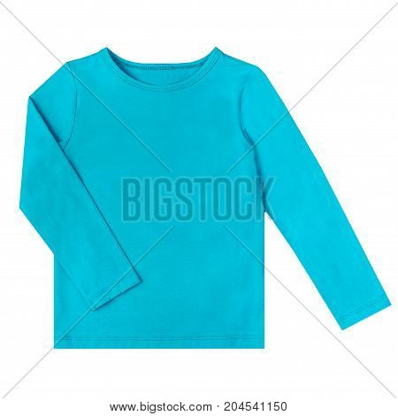 undershirt of turquoise color isolated on a white background