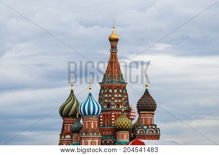 Cathedral of Vasily the Blessed on Red Square Moscow Russia