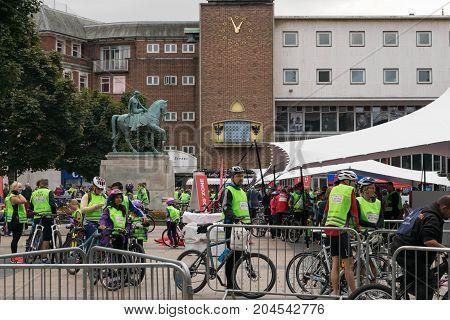 Coventry, United Kingdom, 17 September 2017, coventry annual riding festival.