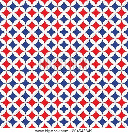 Seamless Intersecting Geometric Circle Pattern Background Texture