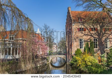Little Bridge Over A Canal In Amersfoort