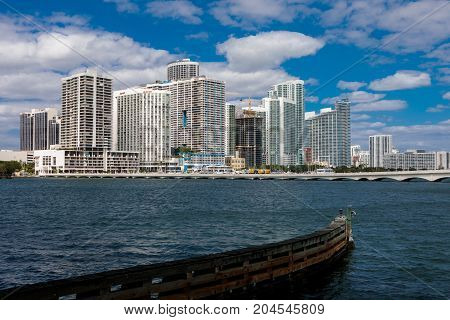 Skyline Of Downtown Miami
