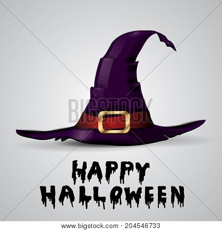 Wizard withch hat isolated on white backgroundvector