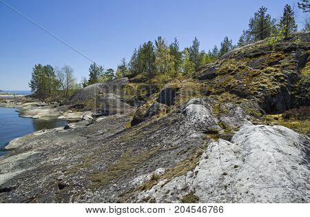 Rocky Shores Of Lake Ladoga
