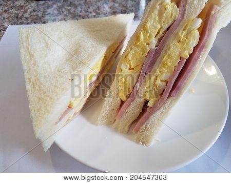 Delicious Egg And Ham Sandwich