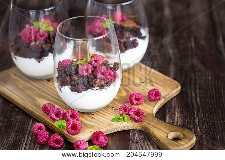 Raspberry Trifle Background