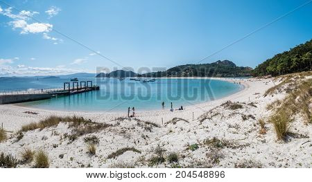 Playa De Rodas On The Cies Islands Of Spain