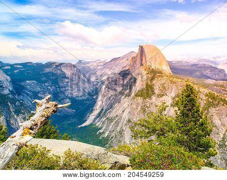 Yosemite National Park and Half Dome, California, USA
