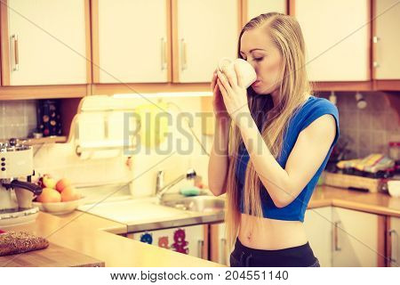 Woman Holding Cup Of Tea Of Coffee