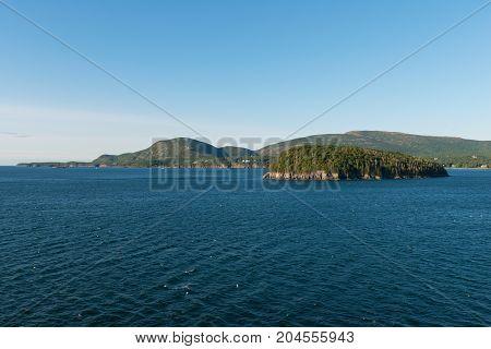 Islands in Frenchman Bay near Bar Harbor Maine