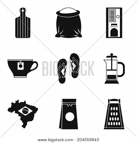 Brazil coffee icon set. Simple set of 9 brazil coffee vector icons for web design isolated on white background