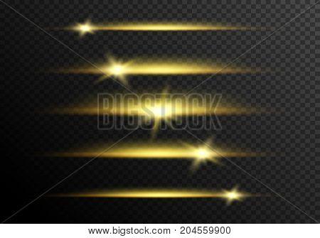 Glare animation. Lens flares effect. Glow light.