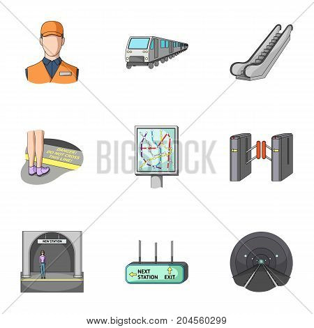 Movement, electric transport and other  icon in cartoon style. Public, transportation, means icons in set collection.