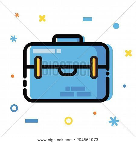 Line art flat Style. Application development, business and information. Vector icons and elements collection. Finance Concept.