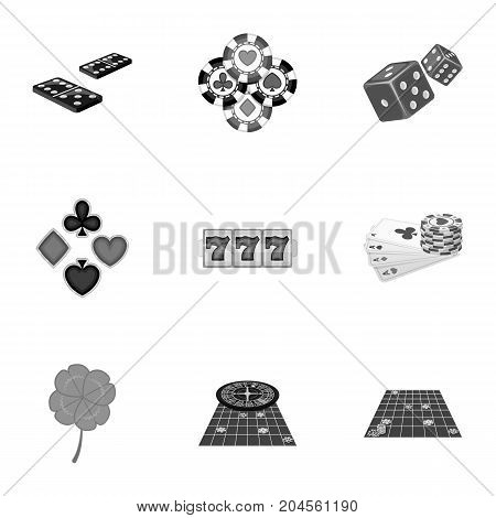 Entertainment, hobby, debt and other  icon in monochrome style.Excitement, game, casino, icons in set collection.