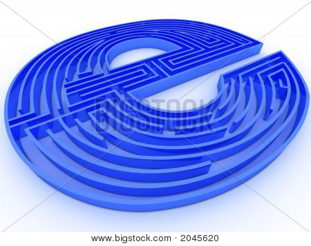 Symbol For Internet. Labyrinth