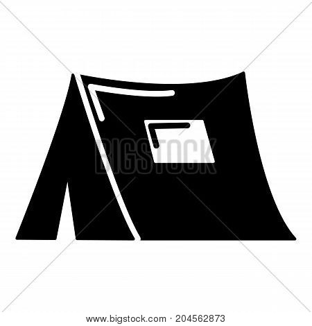 Tourist tent icon . Simple illustration of tourist tent vector icon for web design isolated on white background