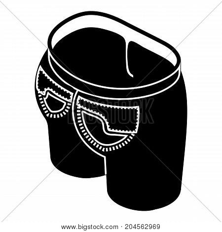 Modern back pocket icon. Simple illustration of modern back pocket vector icon for web design isolated on white background