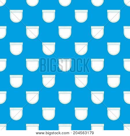 Shirt pocket pattern repeat seamless in blue color for any design. Vector geometric illustration